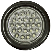 "4"" Round 24 Clear LED Strobe Light Buyers Products SL40CR"