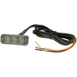 "2.56"" 3 LED Amber Strobe Light Buyers Products 8891403"