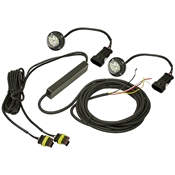 Pair 6 Clear LED Strobe Light Heads w/15' Cable Buyers Products 8891215