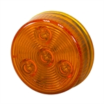"2"" 4 LED Amber Round Marker Light Buyers Products 5622254"
