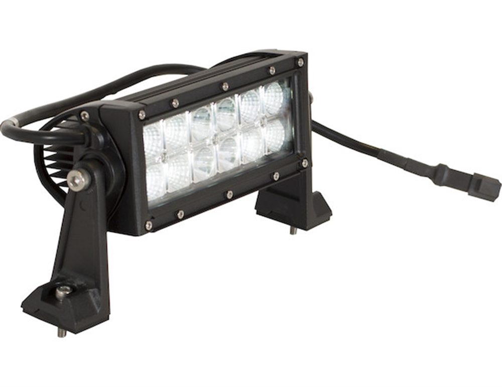 3240 lumen 8 inch spot flood led light bar 12 volt dc. Black Bedroom Furniture Sets. Home Design Ideas
