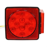 12 VDC LED STOP/TURN/TAIL LIGHT BOX STYLE W/LICENSE PLATE LIGHT