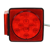 "12 Volt DC LED Stop/Turn/Tail Light 5"" Box Style Buyers Products 5625111"
