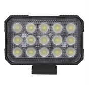 "12-24 Volt DC 9000 Lumen 15 LED 5.9"" Rectangular Flood Light"