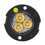 "1"" DIA. 3 LED AMBER SURFACE/RECESSED STROBE LIGHT"