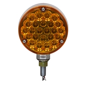 "12 Volt DC 4"" Pearl Pattern Red/Amber 78360 LED Stud Mount Light"
