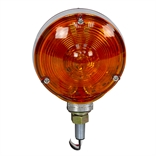 "12 Volt DC 4"" Double Face Red/Amber 77611 LED Pedestal Light"