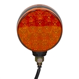 "12 Volt DC 4"" Double Face Amber G5300 LED Post Light"
