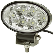 12 Volt DC 1350 Lumens Oval Clear Led Utility Light