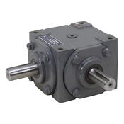 1:1 32 HP Right Angle Gearbox Opposite Rotation In/Out Keyed Shafts Gray 19455-KW-KW-GR