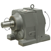 122.17:1 Size 87 2 HP Inline Gear Reducer