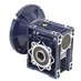 Aluminum Right Angle Worm Gear Reducer, 50 mm C.D., 100/1, 56C Input Flange, Hollow Bore Output - Alternate 1