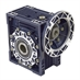 Aluminum Right Angle Worm Gear Reducer, 75 mm C.D., 30/1, 56C Input Flange, Hollow Bore Output