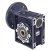 Aluminum Right Angle Worm Gear Reducer, 90 mm C.D., 40/1, 145TC Input Flange, Hollow Bore Output - Alternate 1