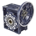 Aluminum Right Angle Worm Gear Reducer, 90 mm C.D., 40/1, 145TC Input Flange, Hollow Bore Output