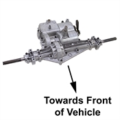 6 Speed Transaxle Peerless MST-206-578 Axle-Forward Transaxle w/ Pull Brake Lever