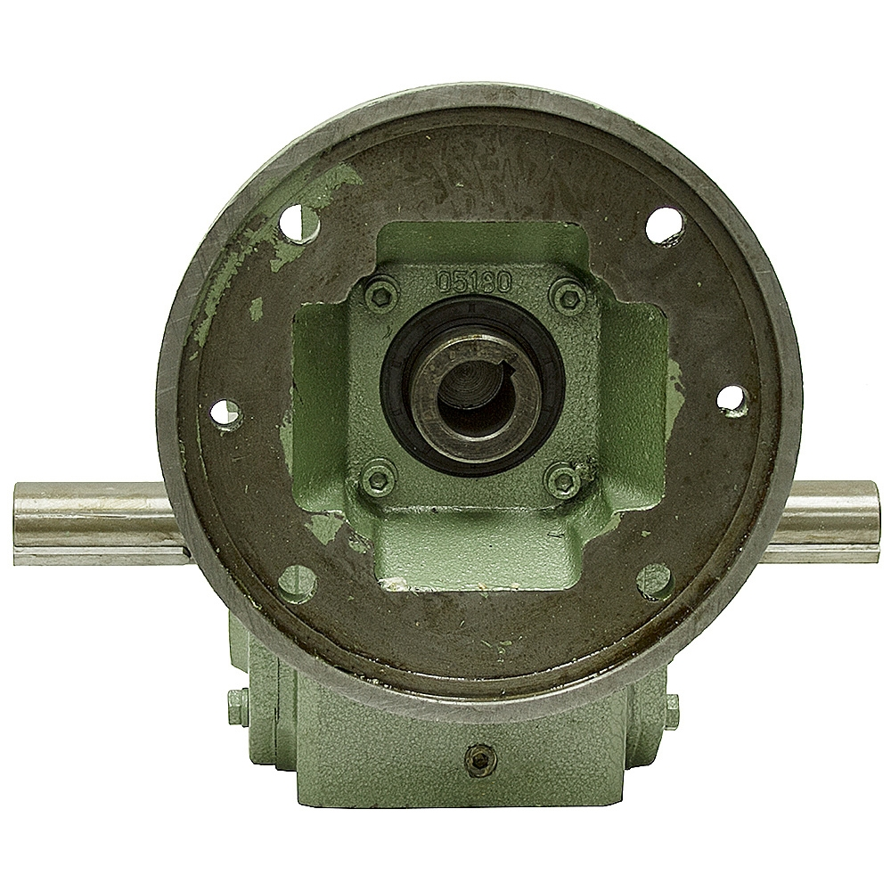 5 1 ra gear reducer 4 9 hp 182tc dual output cast iron c for 1 4 hp gear reduction motor