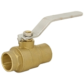 "3/4"" Sweat Fit Brass Ball Valve"
