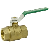 "1"" NPT FIP Brass 600 PSI Ball Valve"