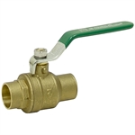"1/2"" COPPER SWEAT 600 PSI BRASS BALL VALVE"