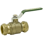 "1/2"" Copper Compression 200 PSI Brass Ball Valve"