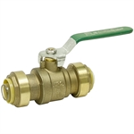 "1"" Push-To-Connect 200 PSI Brass Ball Valve"