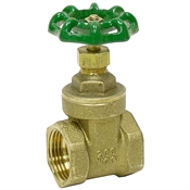 "1/2"" LPS 200 PSI Brass Gate Valve"