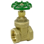 "3/4"" LPS 200 PSI Brass Gate Valve"