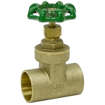 "1/2""  Sweat Connection 200 PSI Gate Valve"