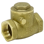 "1/2"" IPS 200 PSI BRASS CHECK VALVE"