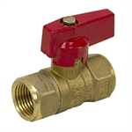 "1/2"" NPT 600 PSI Brass Ball Valve"