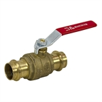 "0.86"" (22mm) 600 PSI Press-Fit Brass Ball Valve"