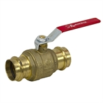 "1.62"" (42mm) 600 PSI Press-Fit Brass Ball Valve"