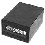 24 Volt DC 6 Digit Durant Counter Black Numerals White Background