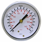 "2000 PSI 2.5"" BM Dry Gauge 50 PSI Graduations"