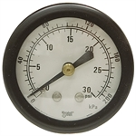 "30 PSI 2"" BM Dry Gauge 1 PSI Graduation"