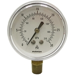 "30 PSI 2 1/2"" LM Dry Gauge 1 PSI Graduation"