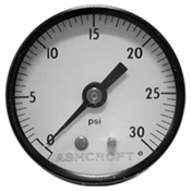 "30 PSI 2"" BM Dry Gauge 0.5 PSI Graduation"