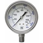 "1500 PSI 2.5"" SS LM Dry Gauge"