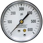 600 PSI 2.5 BM Dry Gauge 20 PSI Graduations