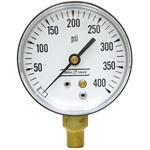 400 PSI 2.5 LM Dry Gauge 10 PSI Graduations