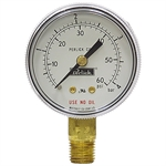 "60 PSI/4 Bar 2"" LM Dry Gauge"