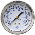 2000 PSI 2.5 SS BM Dry Gauge 2533BS4C1H5FT