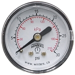 30 PSI 1.5 CB Dry Gauge Winters 415230