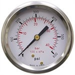 600 PSI / 40 Bar 2.5 PM Dry Gauge