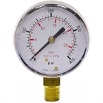 400 PSI / 27 Bar 2.5 LM Dry Gauge