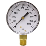 1000 PSI 2.5 LM Dry Gauge 20 PSI Graduation