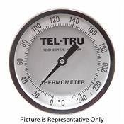 "0 - 240 Degree C 4"" Face 18"" Stem Teltru AA475R Series 47101879 Thermometer"