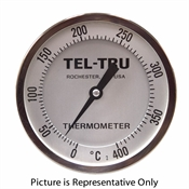 "0 - 400 Degree C 4"" Face 18"" Stem Teltru AA475R Series 47101881 Thermometer"