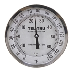 "0 - 150 Degree F, -10 - 60 Degree C 5"" Face 4"" Stem Teltru AA575R Series 42100429 Thermometer"